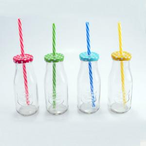 Perfect Home 12976 Party tejes üveg alakú pohár szívószállal