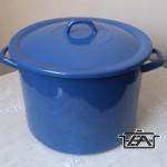 Zománcozott fazék fedővel, 13 liter, kék, 12+39/28