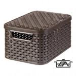 Curver 03617-210-00 My Style Rattan hatású kosár tetővel S 7 L barna
