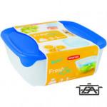 Curver 08927-139-00 FRESH-GO Szögletes ételtartó doboz szett 4 részes