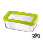 Bormioli Frigo Fun 119802 téglalap alakú ételtároló doboz verde