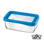 Bormioli Frigo Fun 119807 téglalap alakú ételtároló doboz kék
