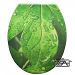 Panitalia Wc ülőke, duroplast, zöld leveles, P-K