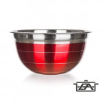 Banquet 15853816R  Rozsdamentes keverőtál piros 16,5cm Avanza