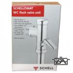 Schell Wc öblítő, krómozott, Schell wc öbl.