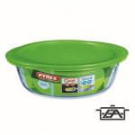Pyrex Sütőtál, hőálló üveg, műanyag tető, 2,6 liter, Cook and Store, 203060
