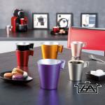 Luminarc Csésze készlet, edzett üveg, 4db, 8cl, Flashy Expresso Color, 500914