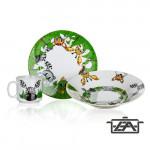 Banquet 60YDDS03E-A Gyerek étkészlet 3 részes Friends Jungle