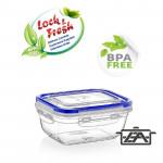 Ételtároló doboz, műanyag, 2300 ml, csatos, DÜ46