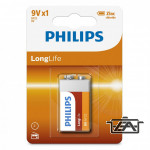 Philips PH-LL-9V-B1 LongLife 9V elem 1db