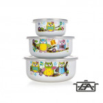 Banquet 1320076OWL Zománcozott ételtároló edény 6 részes Owl