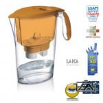 Laica Clear Line-naracssárga vízszűrőkancsó  szűrőbetéttel