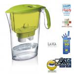 Laica Clear Line-zöld vízszűrőkancsó  szűrőbetéttel