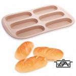 Tescoma 139179 Szilikonos sütőforma baguette 6 lyukú
