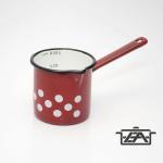 Zománcozott kávékiöntő mércés piros pöttyös 0,6 liter