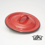 Zománcozott fedő 12cm piros
