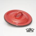 Zománcozott fedő 22cm piros