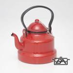 Zománcozott teáskanna piros 1 liter
