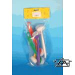Mosogatókefe, műanyag, színes, FI17