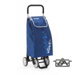 Gimi 392002 Twin húzható-tolható négykerekű bevásárlókocsi kék