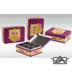 Teás doboz, 20x14,6 cm, fém, HU11