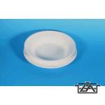 Lapos tányér, műanyag, fehér, K55