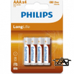 Philips PH-LL-AAA-B4 LongLife AAA elem 4db