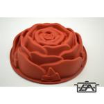 Rózsa sütőforma, 24 cm, szilikon, piros, M00597