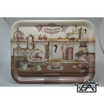 Tálca, 38,4x28,5 cm Melamin tálca, kávéház M40142