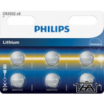 Philips PH-CR2032-B6  Lithium CR2032 3V  1db