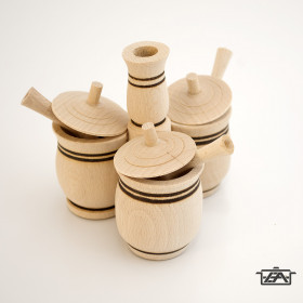 BestOn 00076 Asztali fűszertartó 3 részes, tetővel, kiskanállal