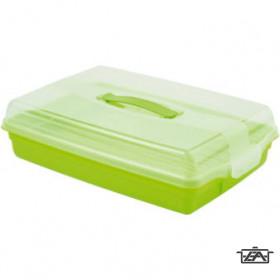 Curver 00415-062-00 Parti kínáló négyszögletes átlátszó-lime