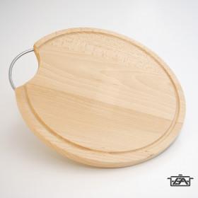 BestOn 00418 Fém füles kerek vágódeszka 30cm