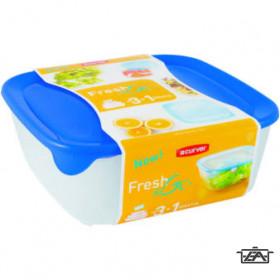 Curver 08924-139-00 FRESH-GO Szögletes ételtartó doboz szett 3 részes