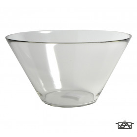 Korona 10750010 Trapéz alakú üvegtál 16x27 cm