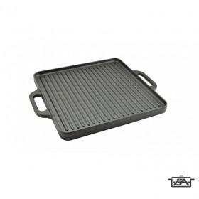 Perfect Home 12970 Öntöttvas grill lap 2 oldalas 33 cm x 33 cm