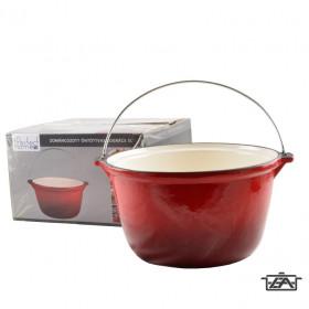Perfect Home 13253 Zománcozott öntöttvas bogrács 5 literes piros