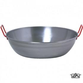 13417 Paella füles serpenyő polírozott 40 cm