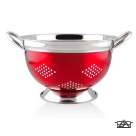 Banquet 15851824R Rozsdamentes  tésztaszűrő piros 23,5cm Avanza