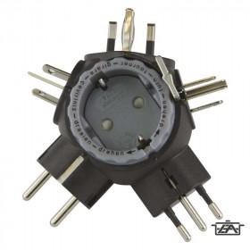 Emos P0057 fekete utazó adapter magyaroknak külföldre Kifutó termék!