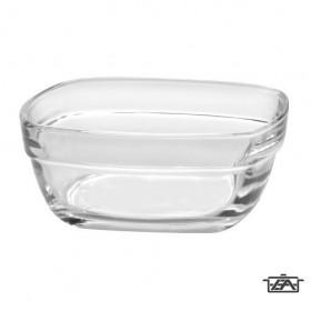 Duralex Salátás tál, üveg, 17 cm, szögletes, Lys, 201015