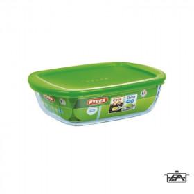 Pyrex Sütőtál, hőálló üveg, műanyag tető, 1,25 liter, Cook and Store, 203063