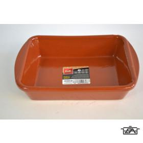 Cok 225416 Szögletes kerámia sütőtál mázas 18 cm