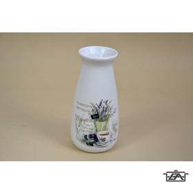 Kerámia váza 285552  levendulás 19,7 cm