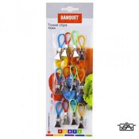 Banquet 28745012 Törölköző, konyharuha tartó csipesz 12db/csomag Accasa