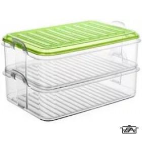 Banquet 55G463 Műanyag ételtároló doboz 2 részes Easy Click