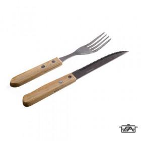 Banquet 45328351-A Steak evőeszközkészlet fa nyéllel 12 részes