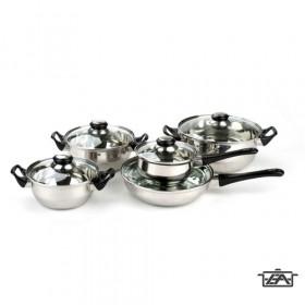 Banquet 481210 Apetit Rozsdamentes edénykészlet üvegfedővel 10 részes