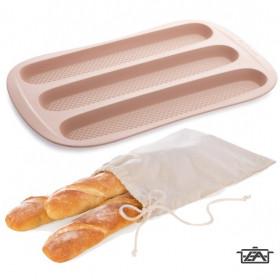 Tescoma 139180 Szilikonos sütőforma baguette 3 lyukú