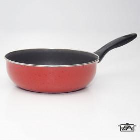 Zománcozott nyeles sütőtál tapadásmentes bevonattal 22cm piros